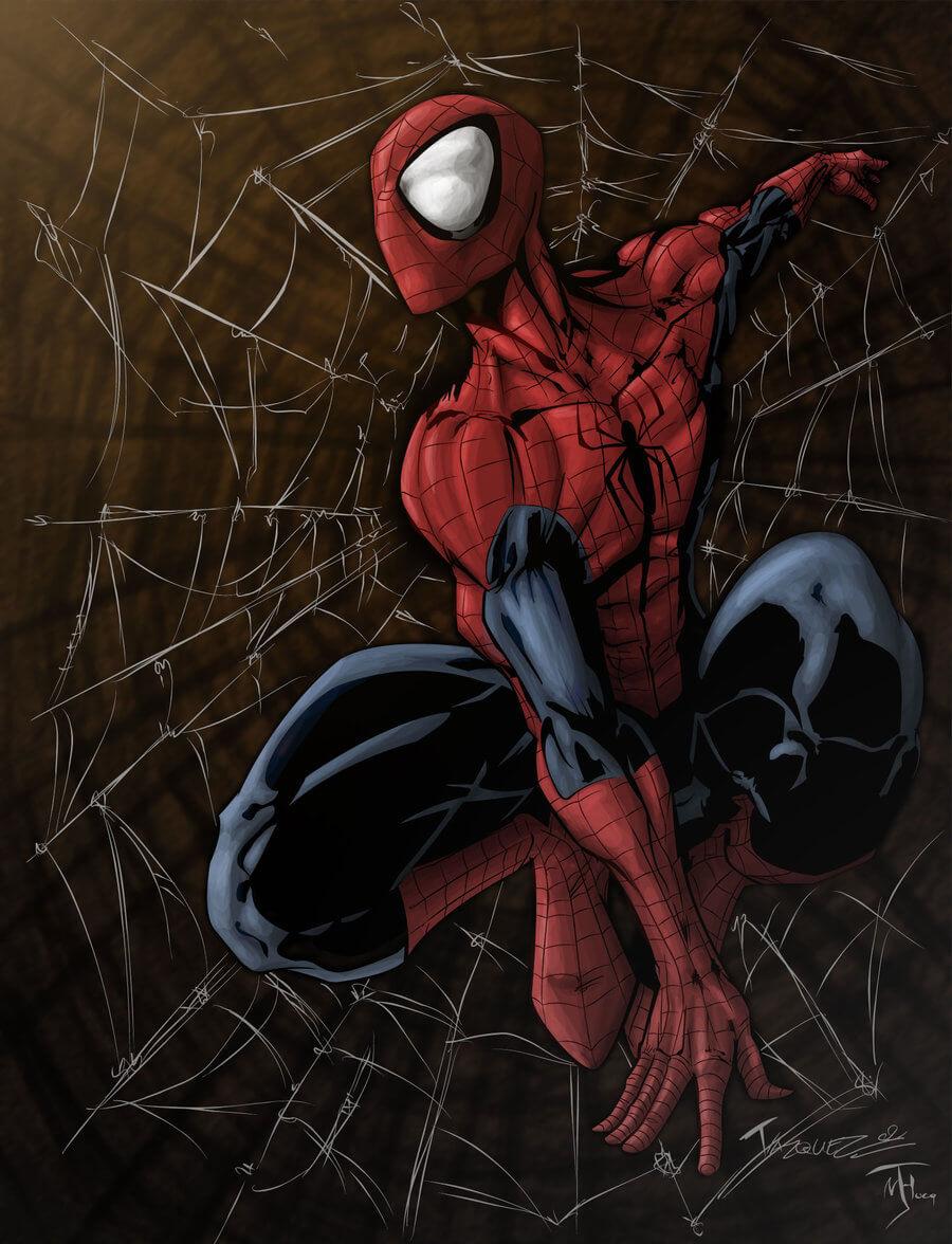 Spider-Man, Человек-паук - самые популярные и красивые арт картинки 7