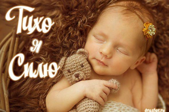 """Прикольные картинки, открытки """"Тихо, я сплю"""" с надписями 4"""