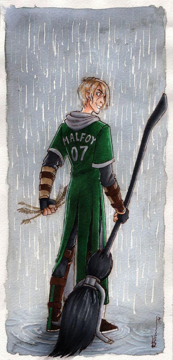Драко Малфой - красивые и прикольные арты, картинки 1