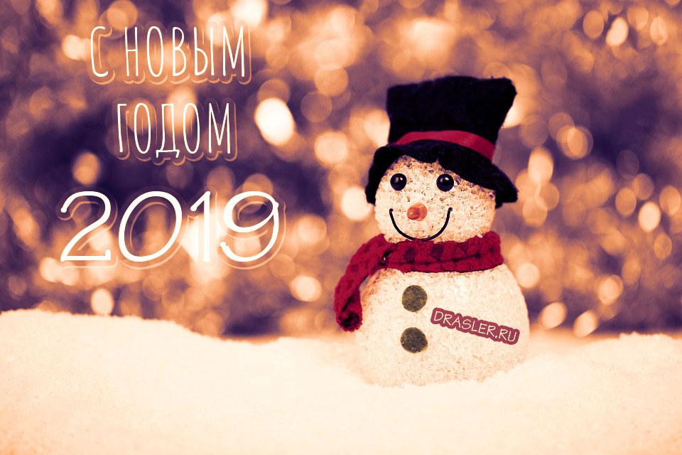 Самые лучшие картинки с Новым 2019 годом - поздравления и открытки 3
