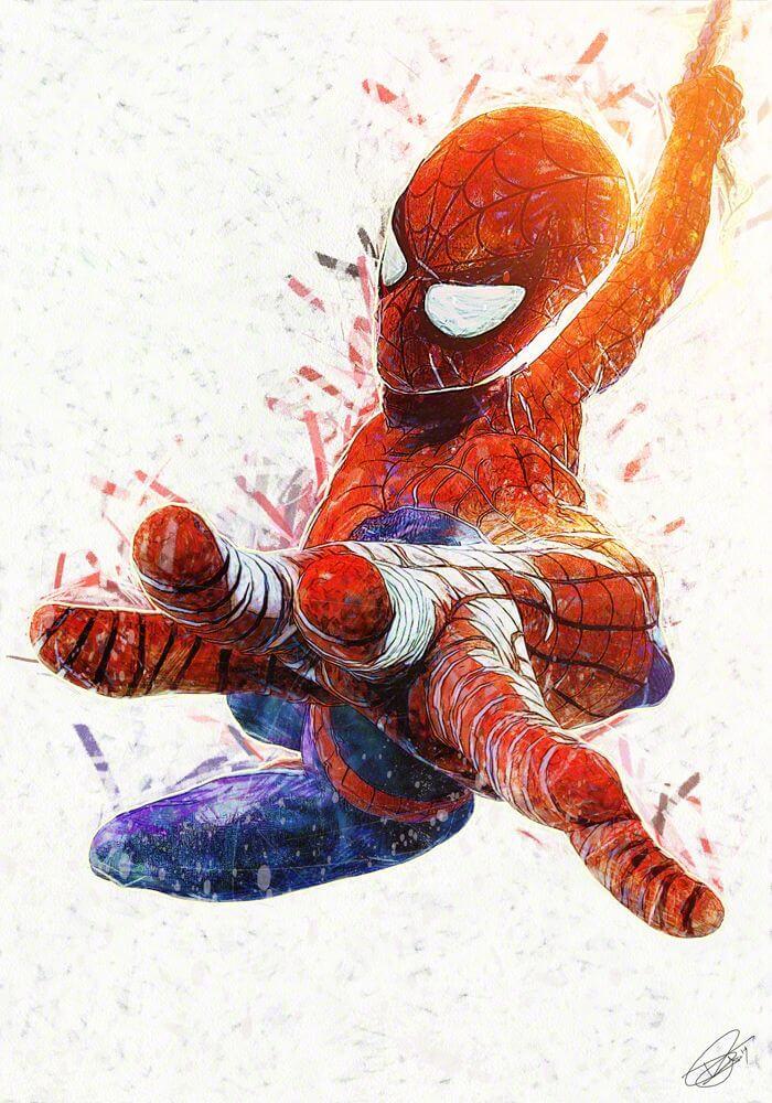 Spider-Man, Человек-паук - самые популярные и красивые арт картинки 21