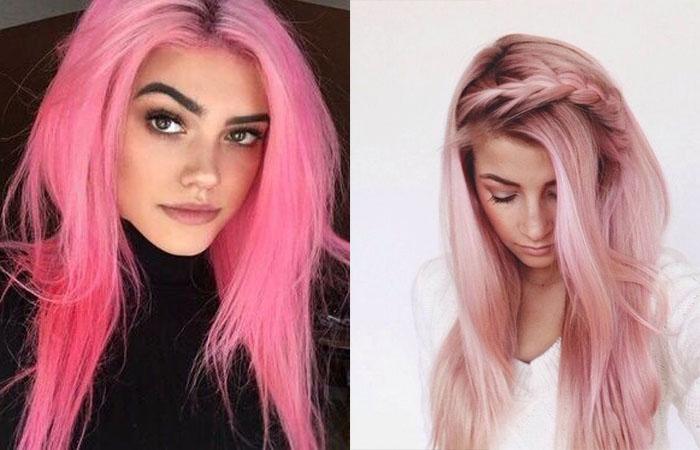 Как покрасить волосы в розовый цвет в домашних условиях 2