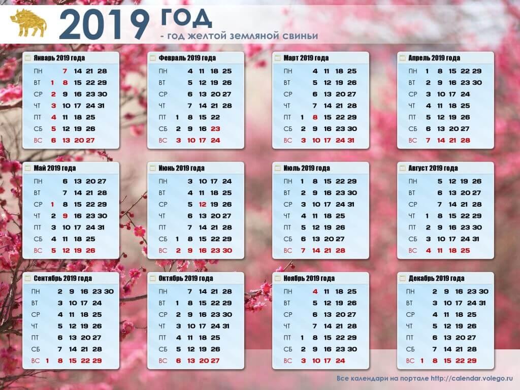 Красивые календари на 2019 год - отличная подборка 15