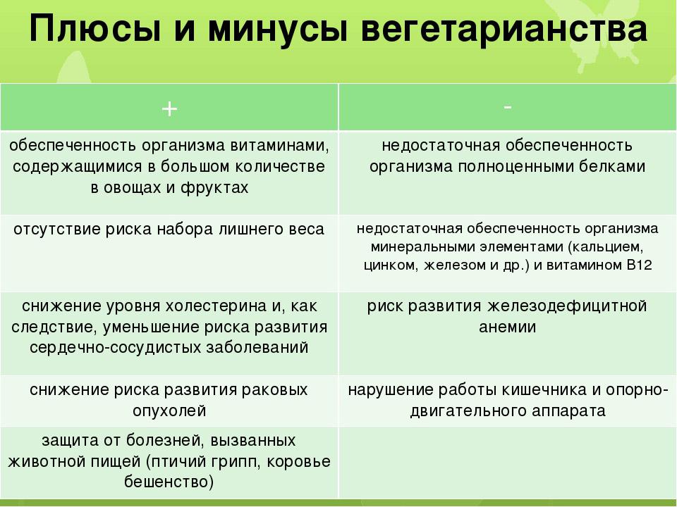 Плюсы и минусы вегетарианства, его польза и вред 2