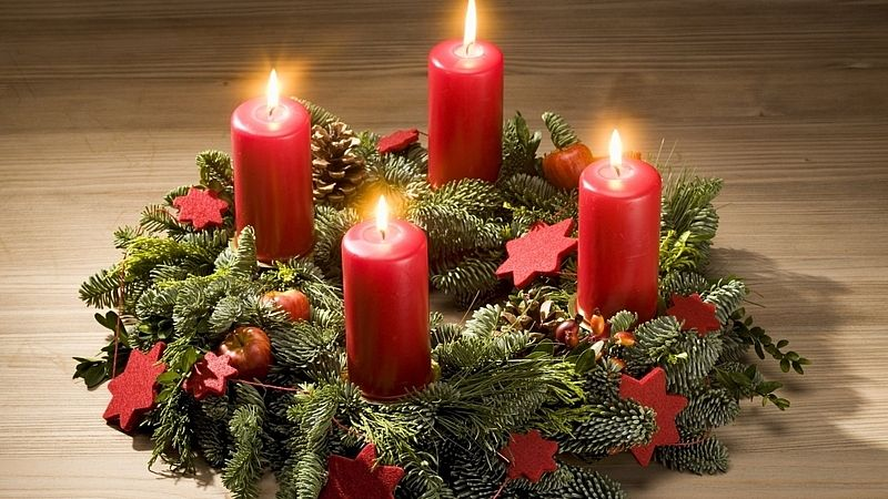 Рождественский венок из свечей - украшаем дом к Новому году 2