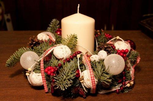 Рождественский венок из свечей - украшаем дом к Новому году 3