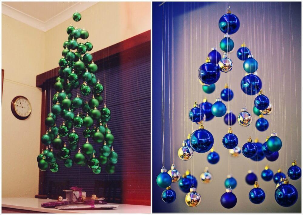 Фото и картинки украшения комнаты на Новый год - варианты, идеи 17