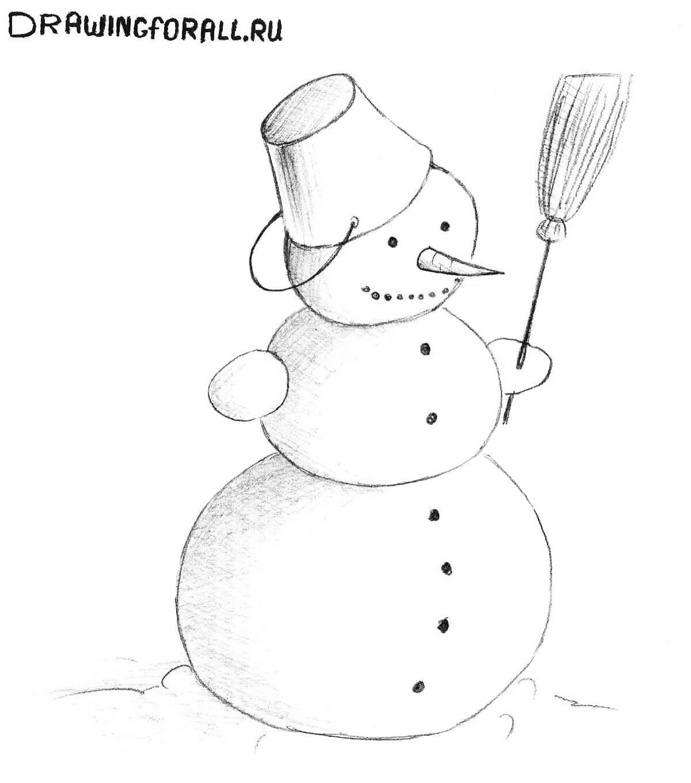 Лучшие картинки рисунки снеговиков для срисовки - коллекция 15