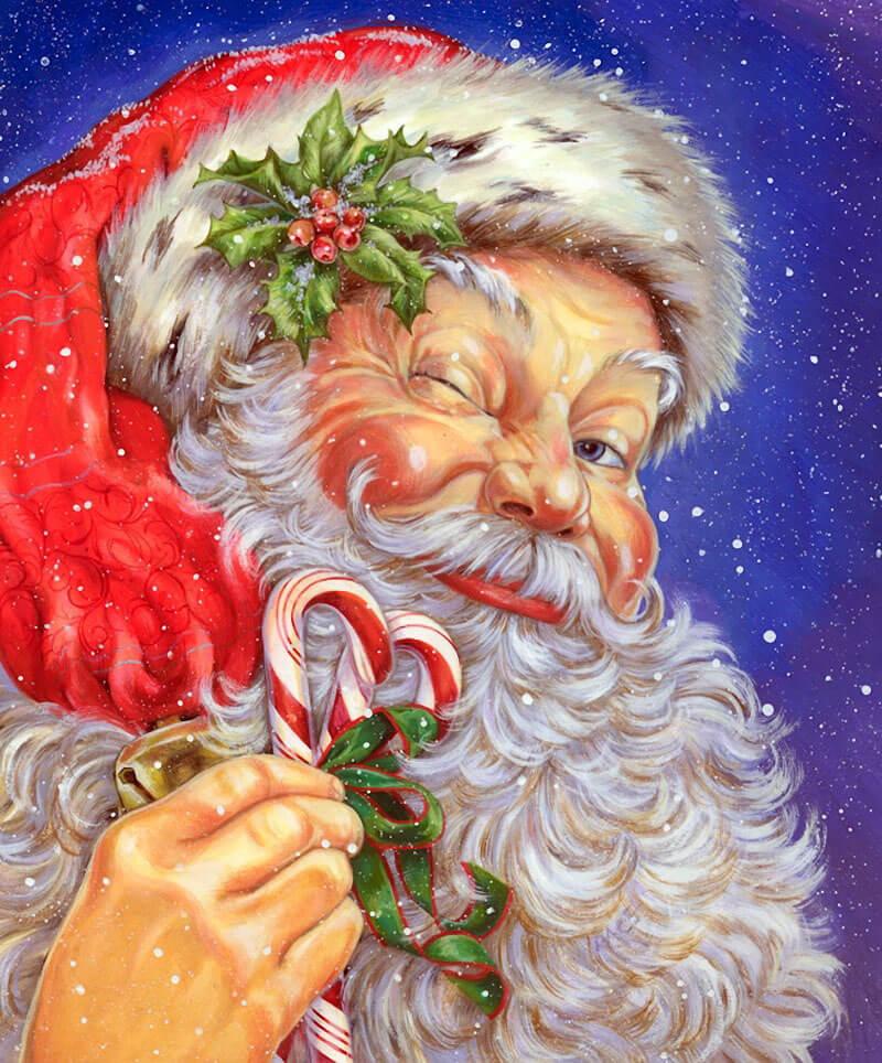Картинки веселых и смешных Дедов Морозов 1