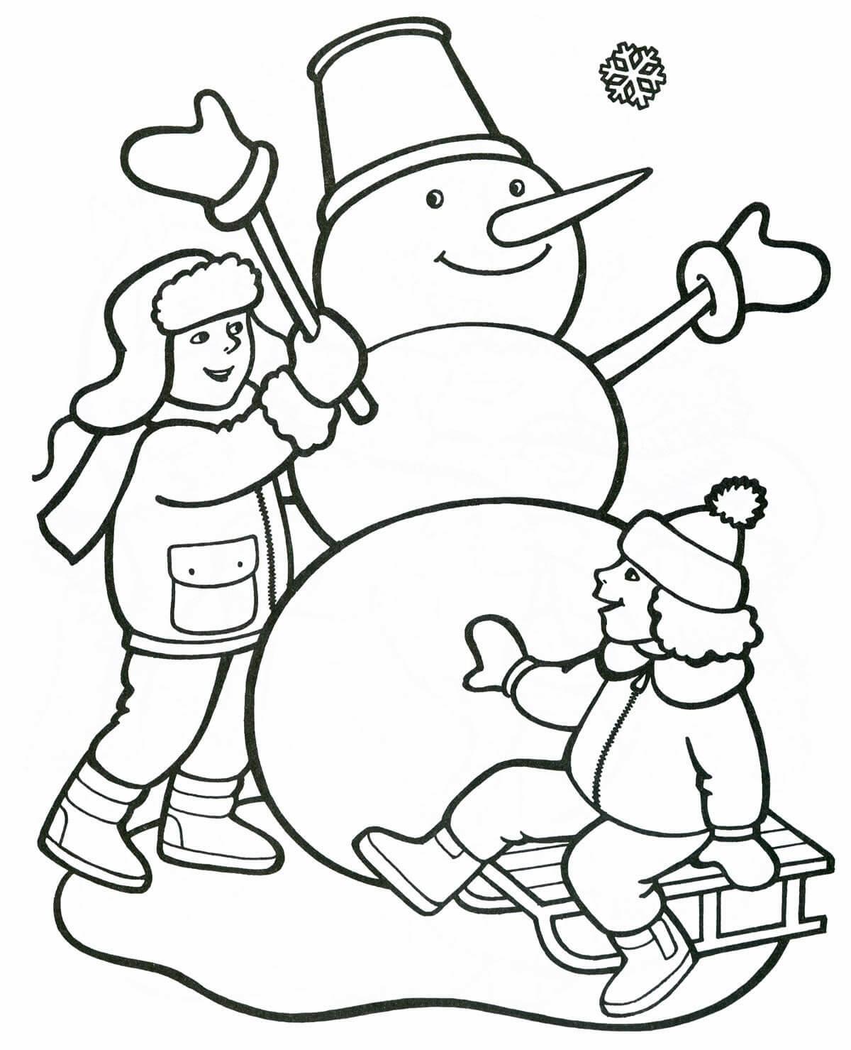 Лучшие картинки рисунки снеговиков для срисовки - коллекция 1