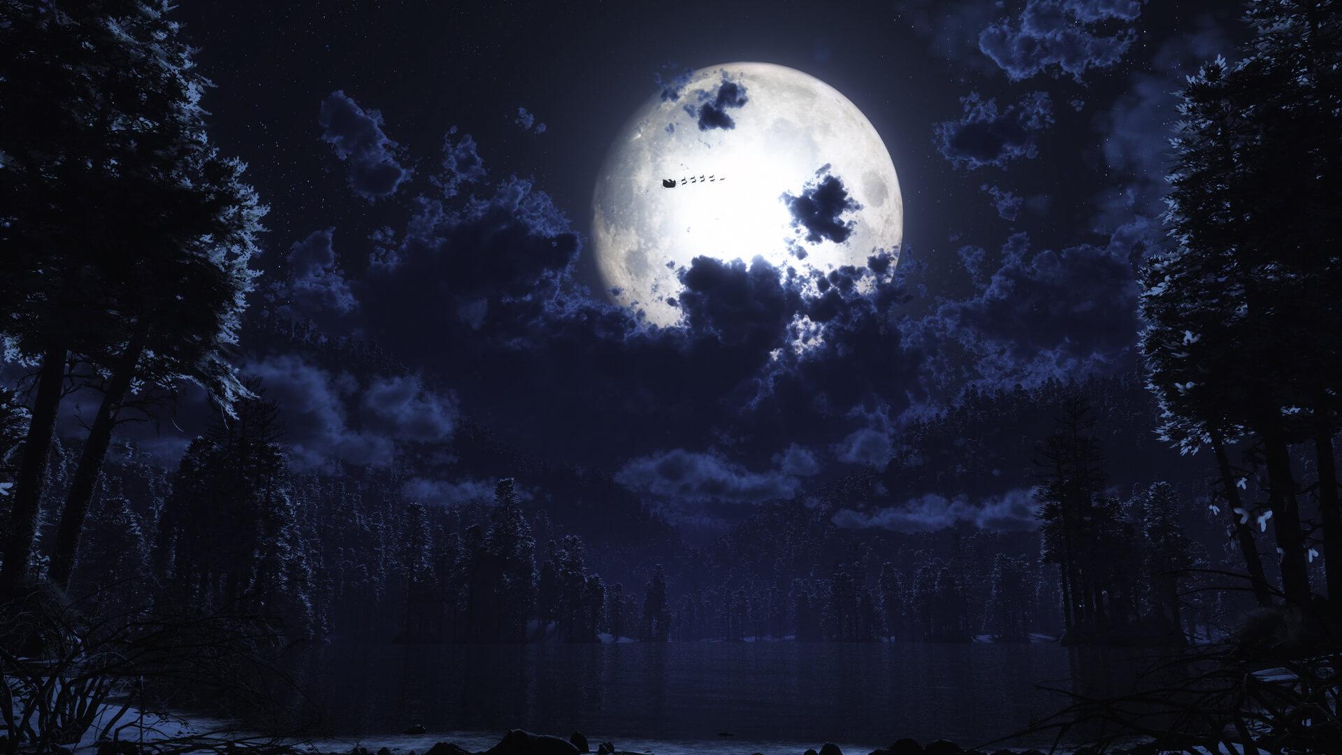 Красивые обои луны на рабочий стол 1920х1080 - коллекция 1