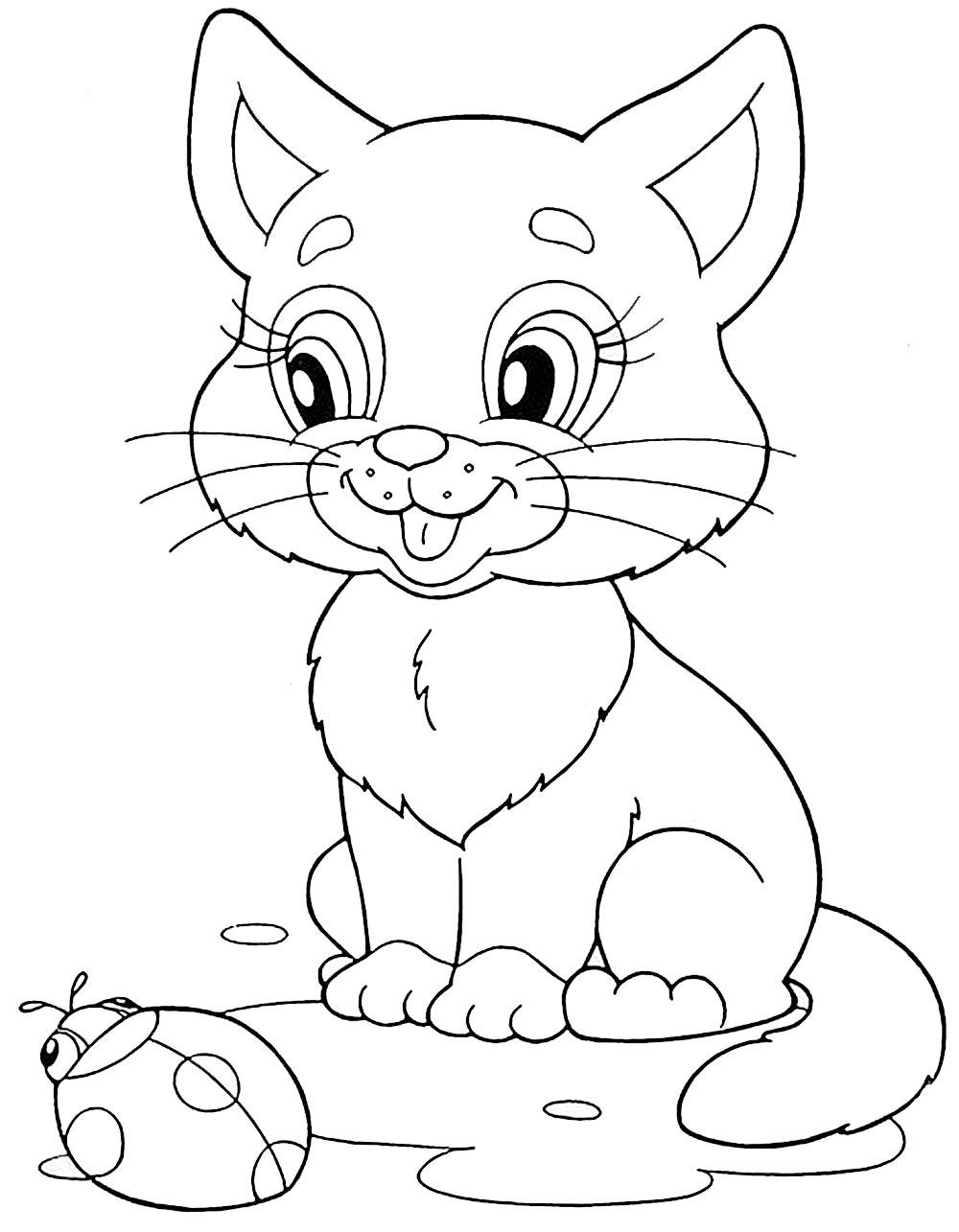 Простые раскраски животных для детей и малышей 10