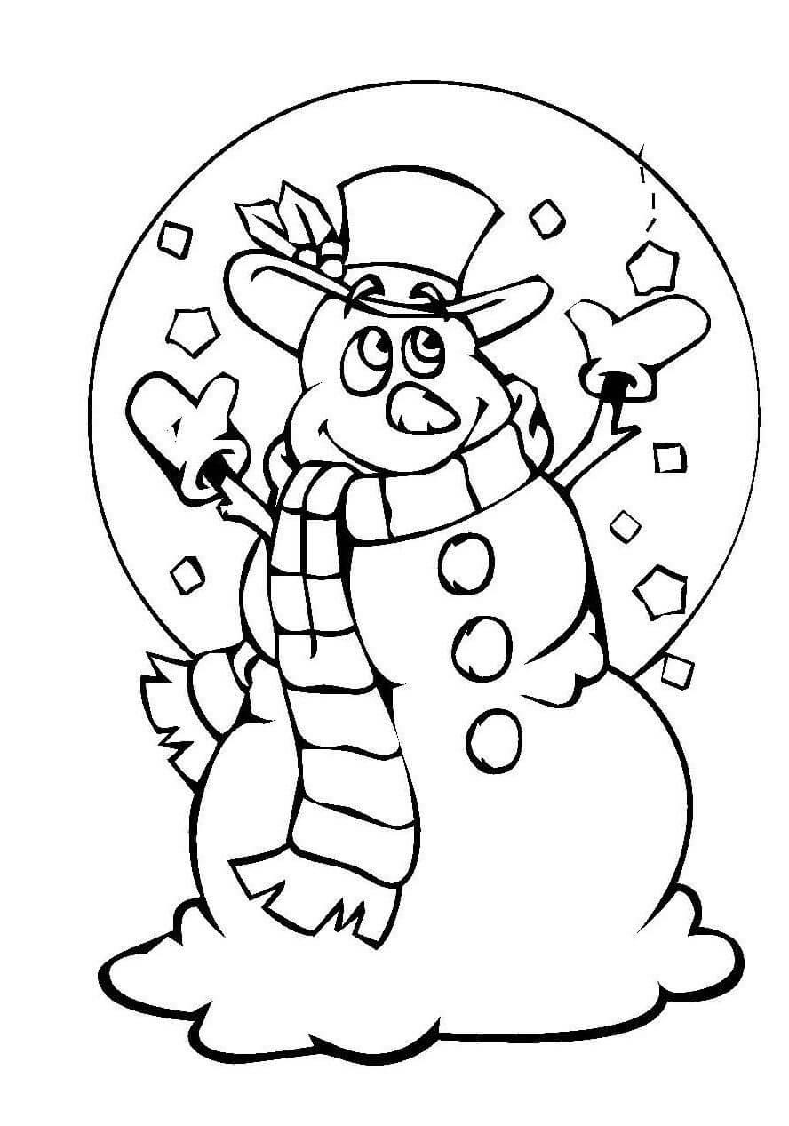 Лучшие картинки рисунки снеговиков для срисовки - коллекция 2