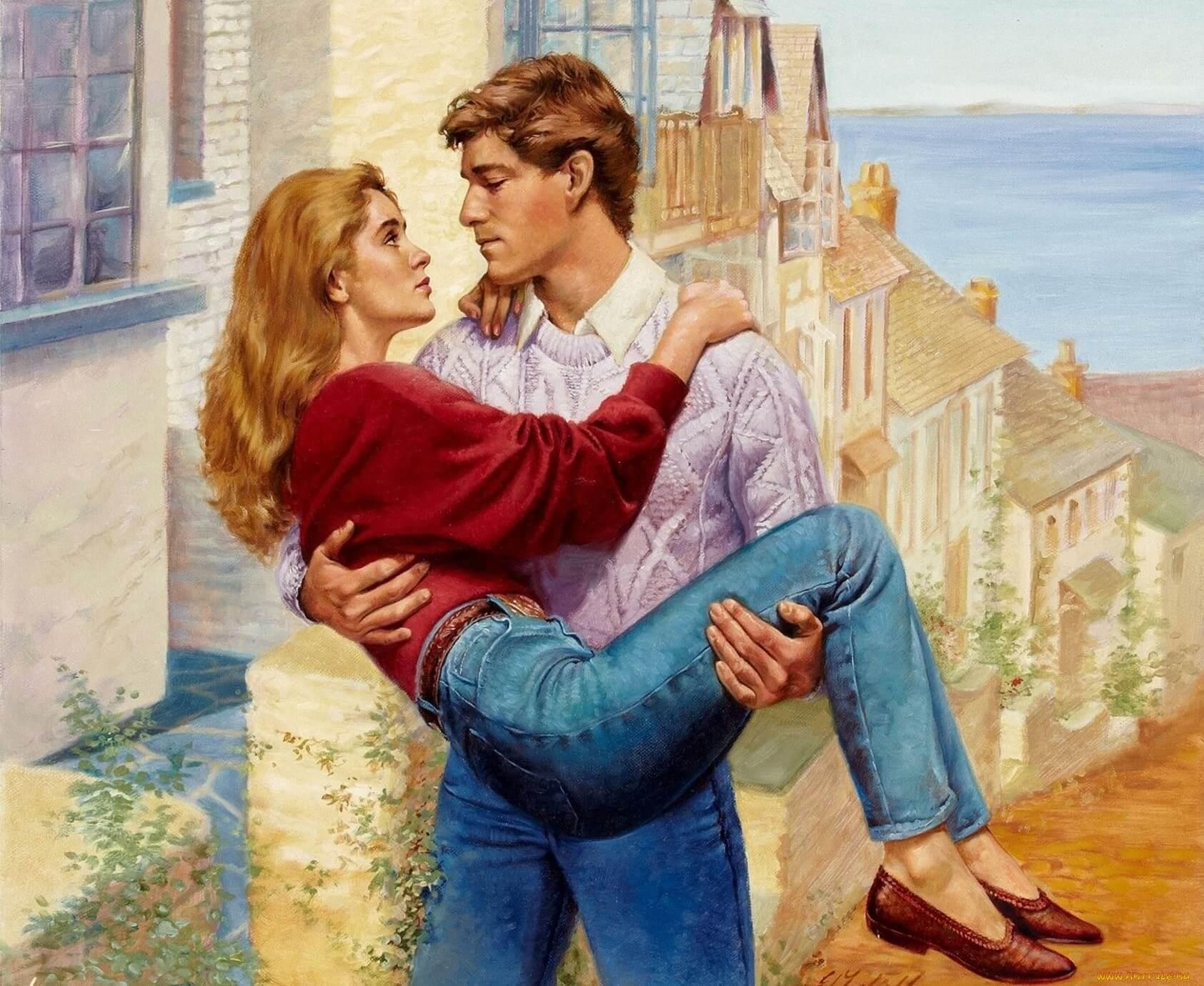 Парень держит девушку на руках - красивые 23 картинок 2