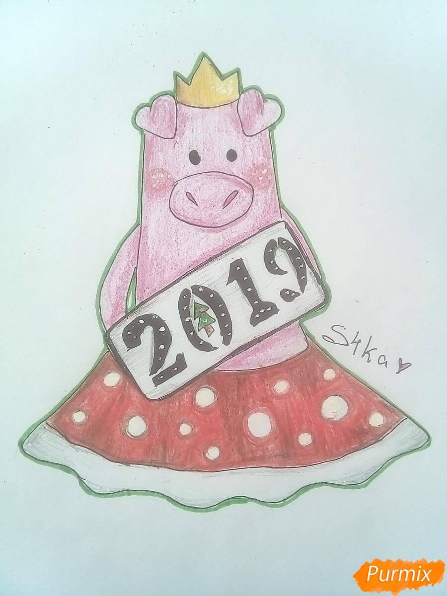 Прикольные картинки свиньи для срисовки - подборка 2