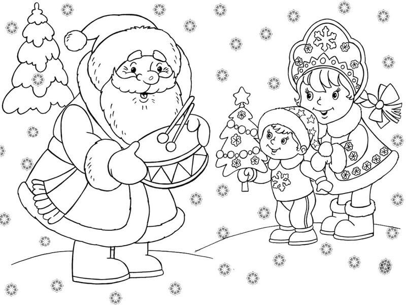 Новый год 2019 картинки для срисовки и рисования - сборка (19 картинок) 6