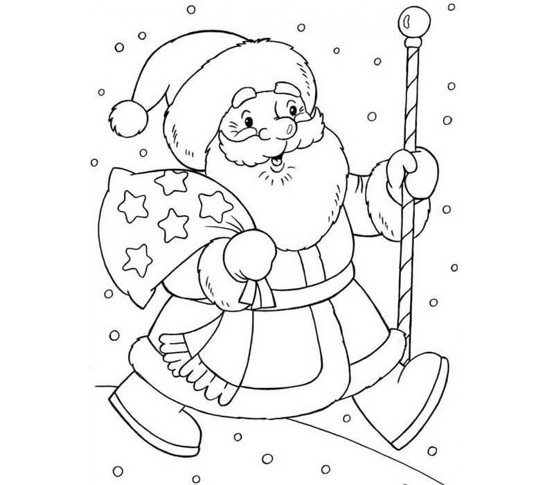 Новый год 2019 картинки для срисовки и рисования - сборка (19 картинок) 7
