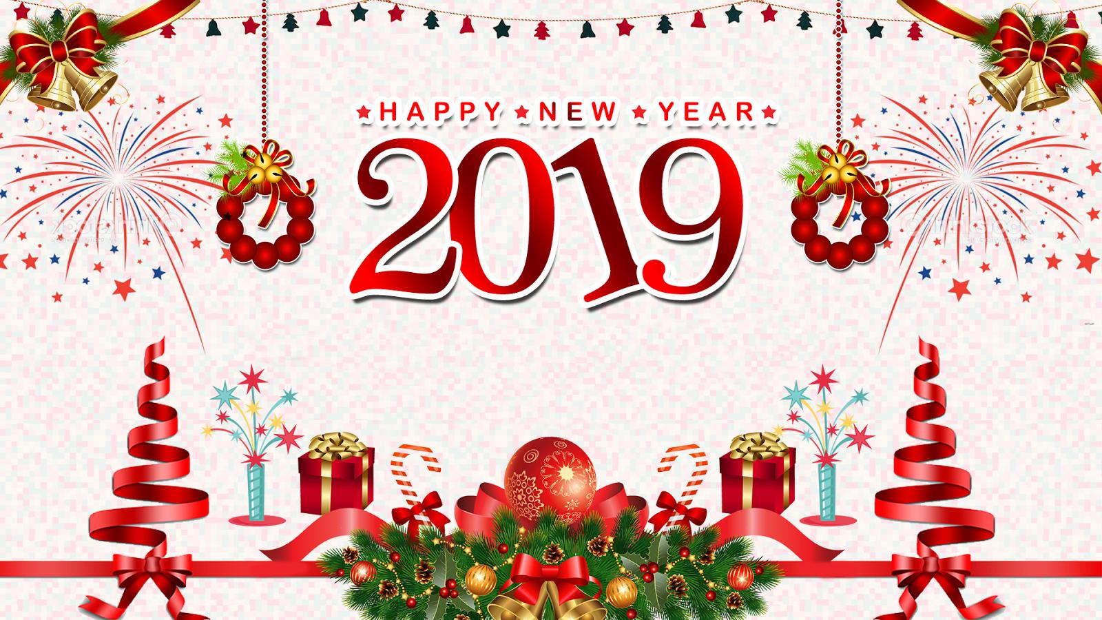 Скачать красивые открытки поздравления с Новым годом 2019 2