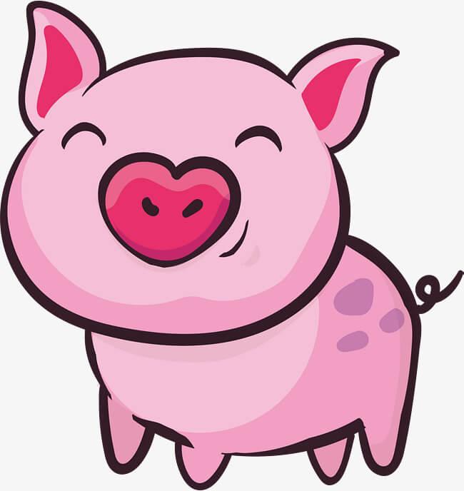 Прикольные картинки свиньи для срисовки - подборка 8