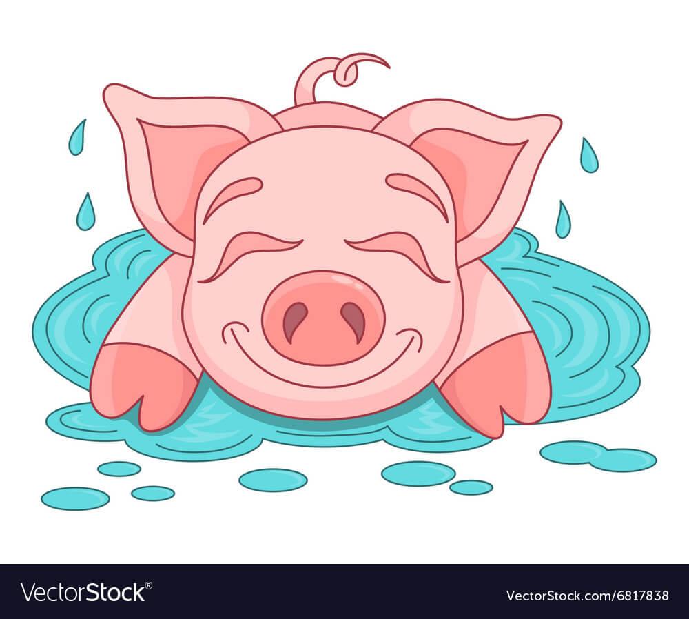 Прикольные картинки свиньи для срисовки - подборка 6