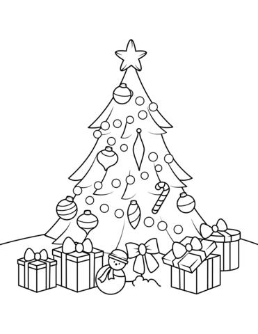 Картинки и рисунки новогодней елки для детей - подборка 1