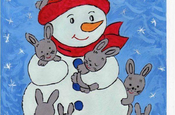 Лучшие новогодние рисунки, картинки для детского сада 4