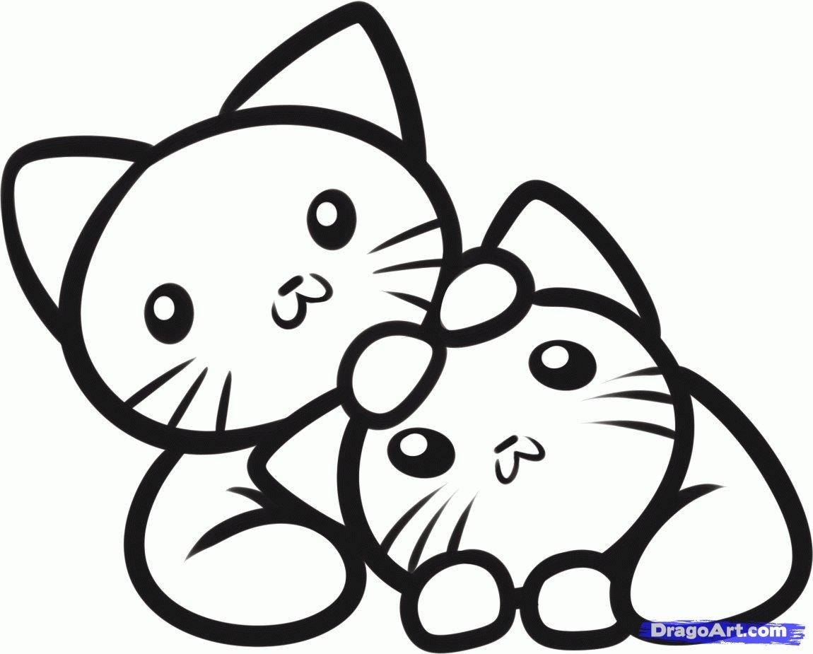Простые раскраски животных для детей и малышей 9