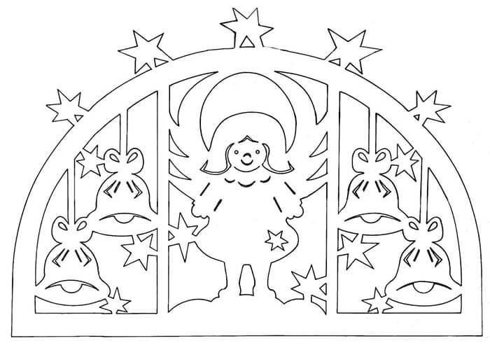 Красивые картинки на окна из бумаги к новому году - подборка 2
