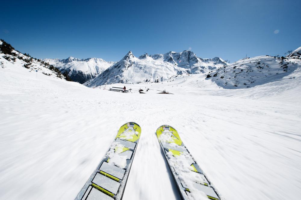 Фото горных лыж - самые прикольные и интересные 14