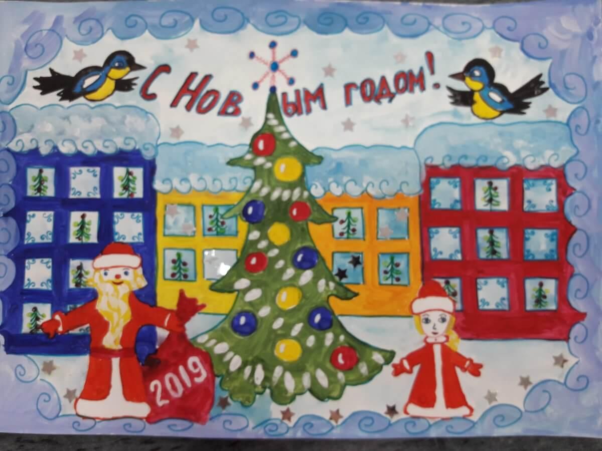 Лучшие новогодние рисунки, картинки для детского сада 9