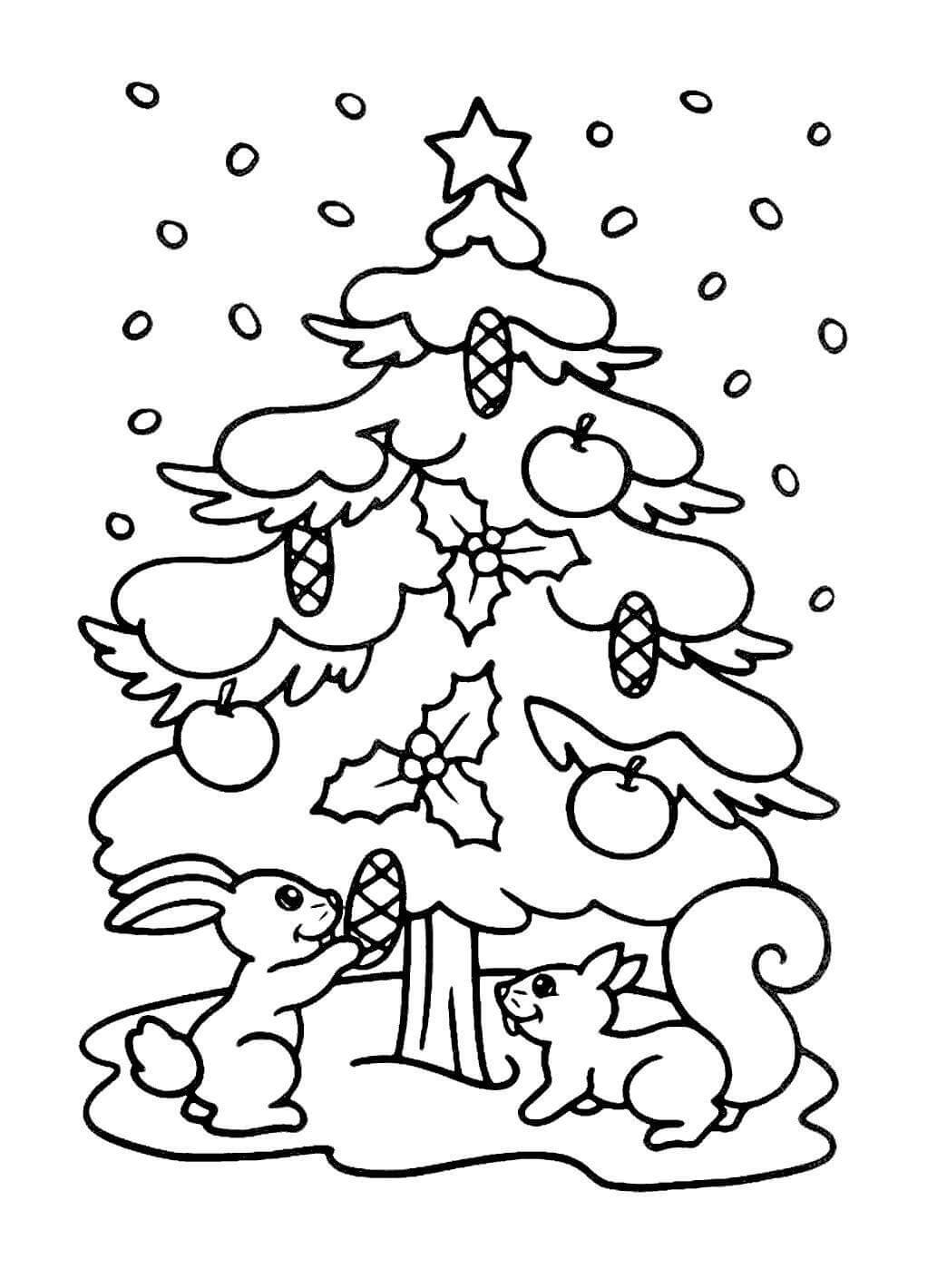 Картинки и рисунки новогодней елки для детей - подборка 11
