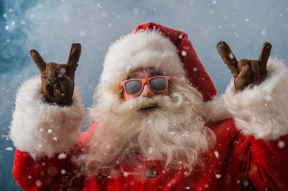 Картинки веселых и смешных Дедов Морозов 17
