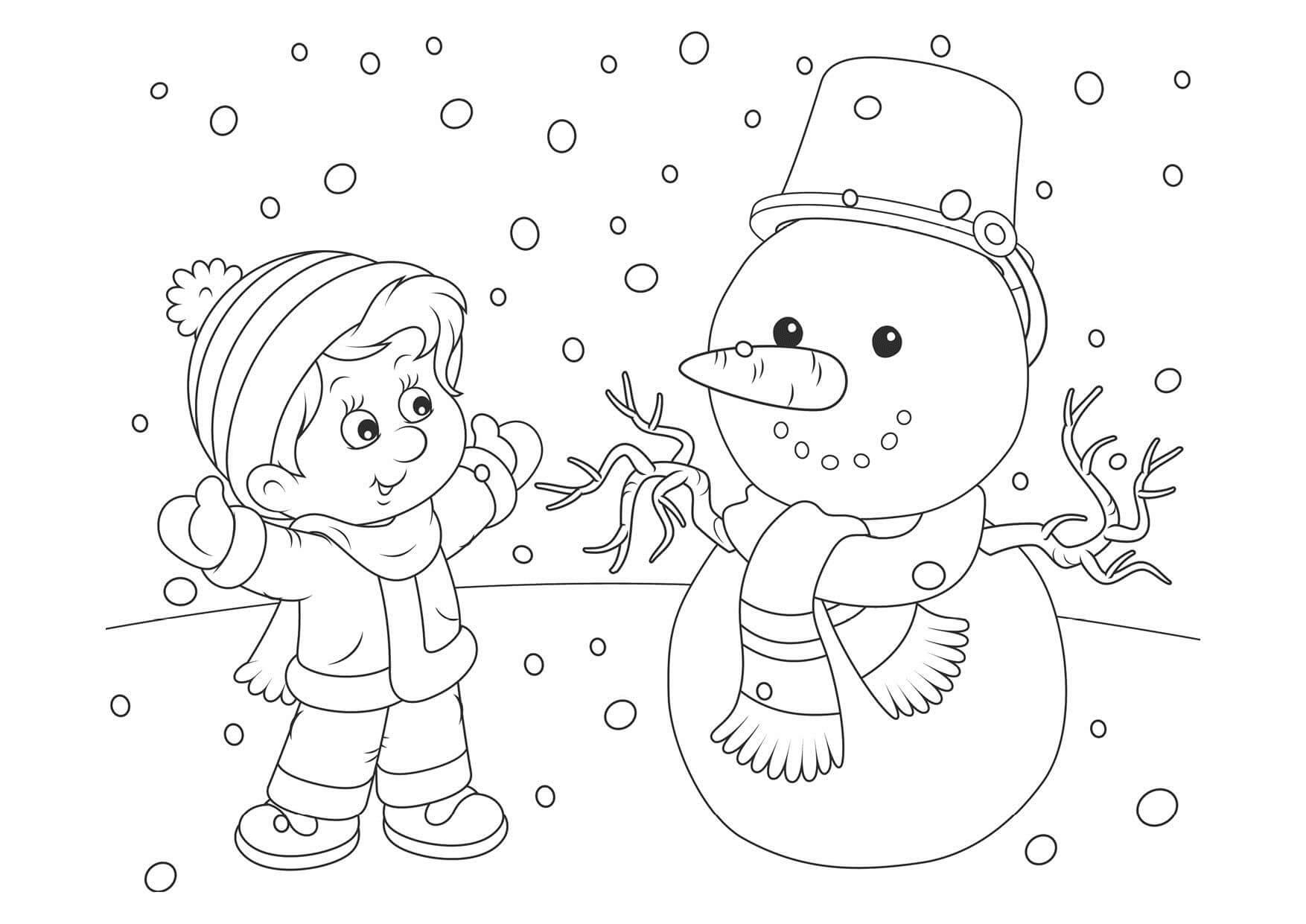 Лучшие картинки рисунки снеговиков для срисовки - коллекция 9
