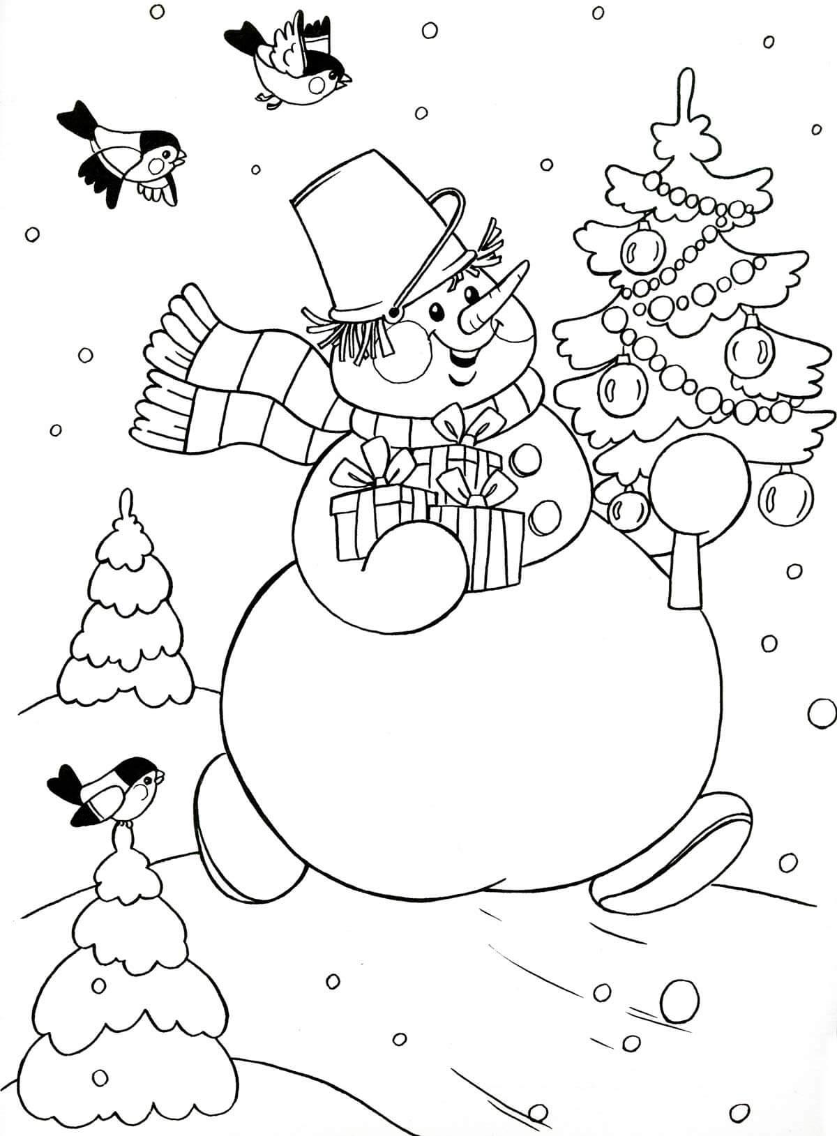 Лучшие картинки рисунки снеговиков для срисовки - коллекция 3