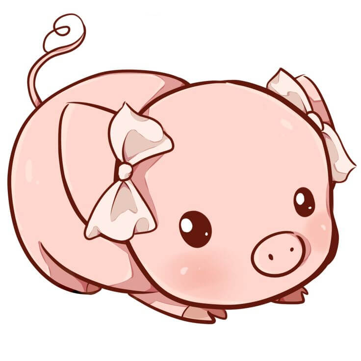 Прикольные картинки свиньи для срисовки - подборка 13