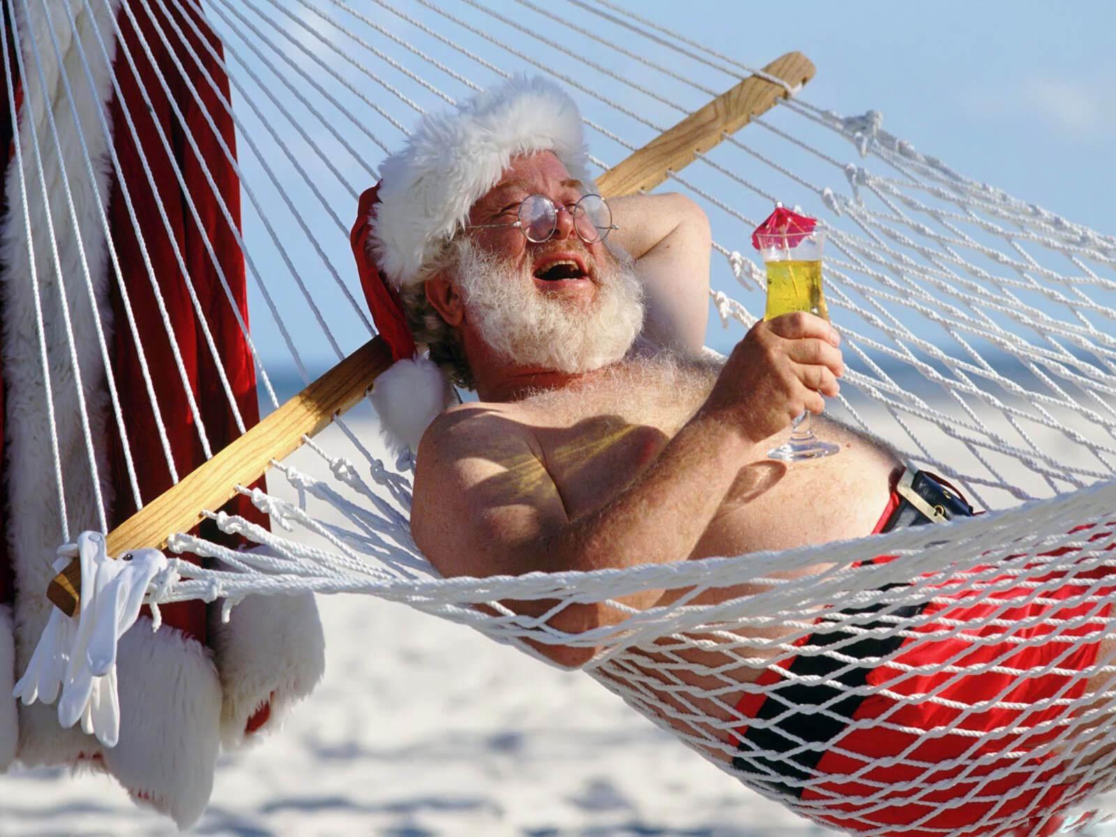 Картинки веселых и смешных Дедов Морозов 8