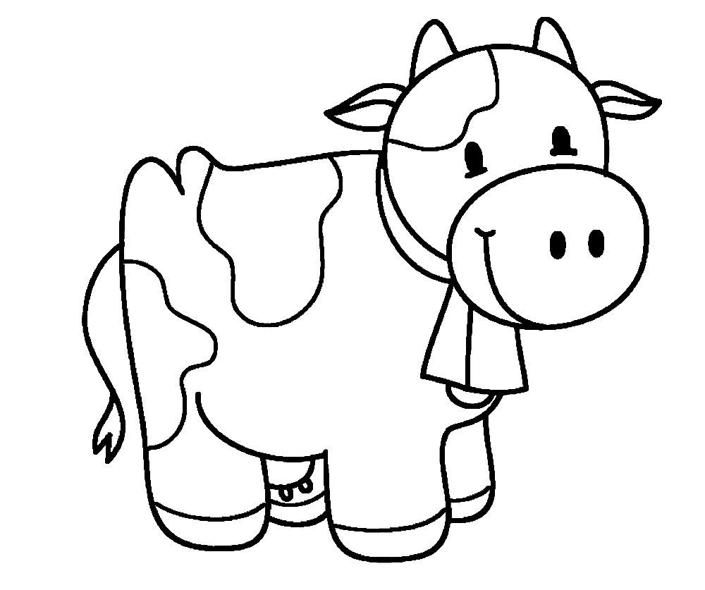 Простые раскраски животных для детей и малышей 16