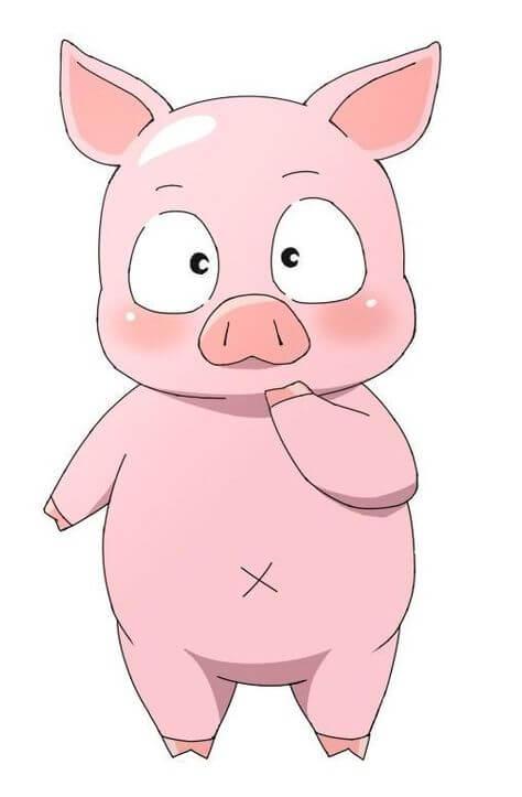 Прикольные картинки свиньи для срисовки - подборка 15