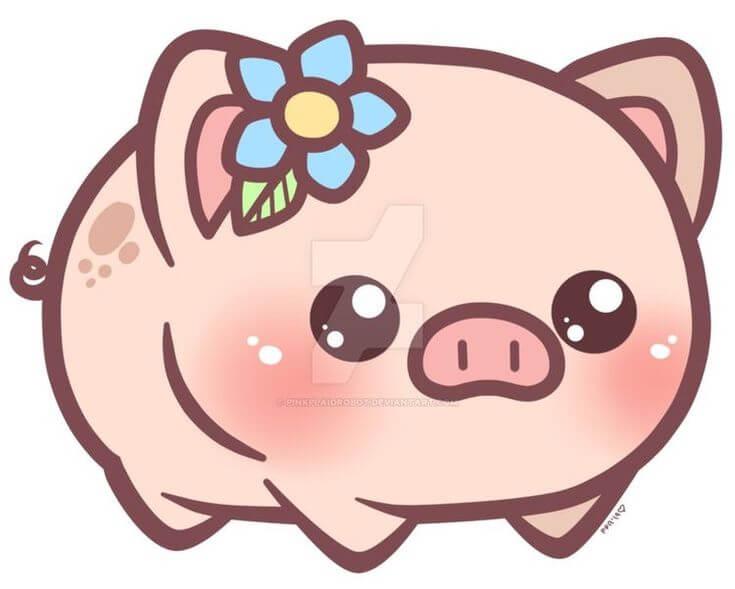 Прикольные картинки свиньи для срисовки - подборка 16