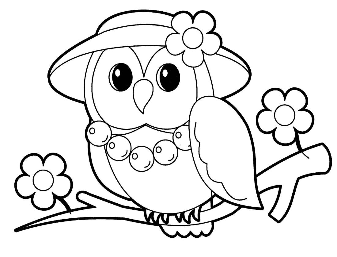 Простые раскраски животных для детей и малышей 19