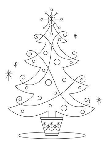 Картинки и рисунки новогодней елки для детей - подборка 7