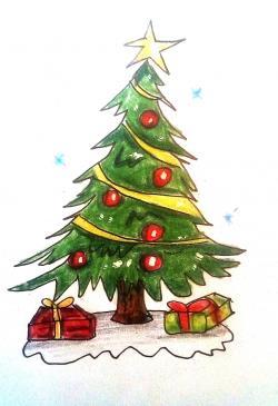 Картинки и рисунки новогодней елки для детей - подборка 8