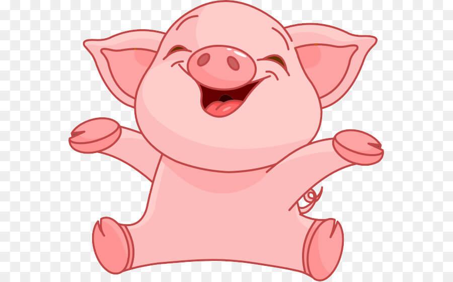 Прикольные картинки свиньи для срисовки - подборка 19
