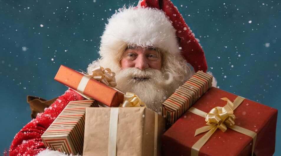 Картинки веселых и смешных Дедов Морозов 10
