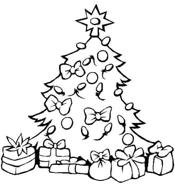 Картинки и рисунки новогодней елки для детей - подборка 9