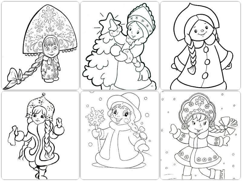 Новый год 2019 картинки для срисовки и рисования - сборка (19 картинок) 16