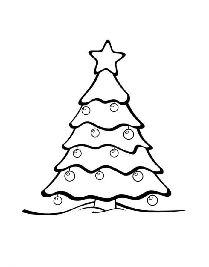 Картинки и рисунки новогодней елки для детей - подборка 12