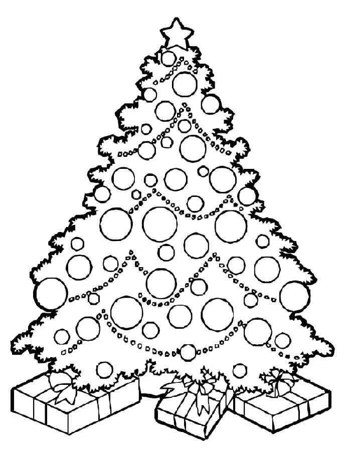 Картинки и рисунки новогодней елки для детей - подборка 14