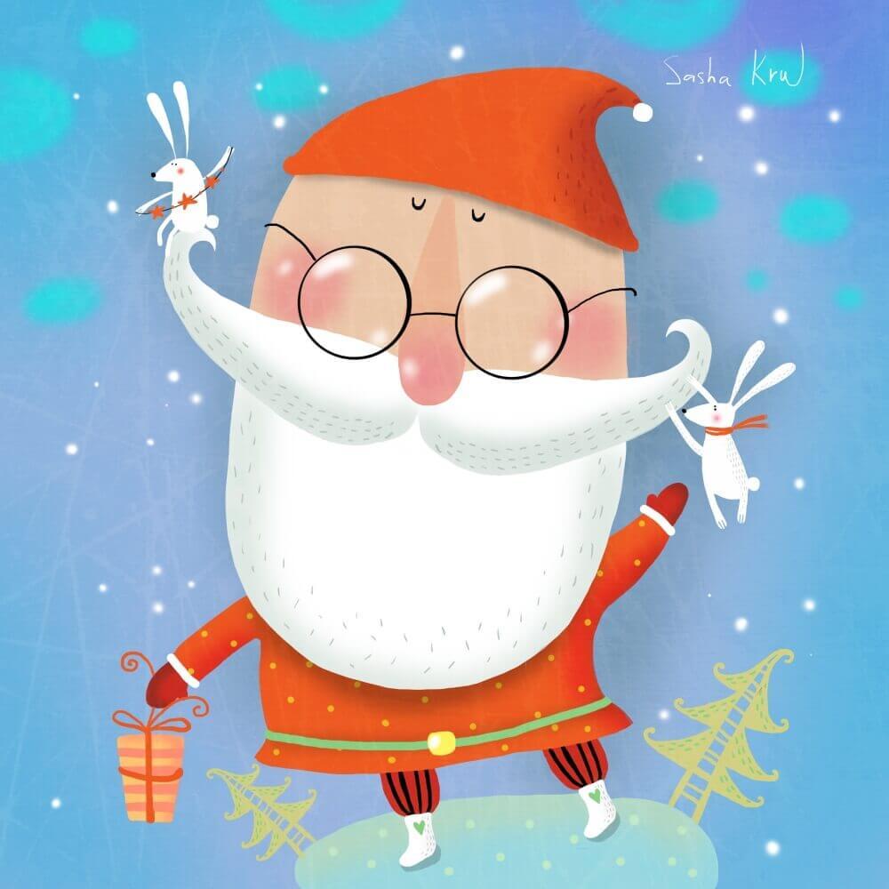 Картинки веселых и смешных Дедов Морозов 14