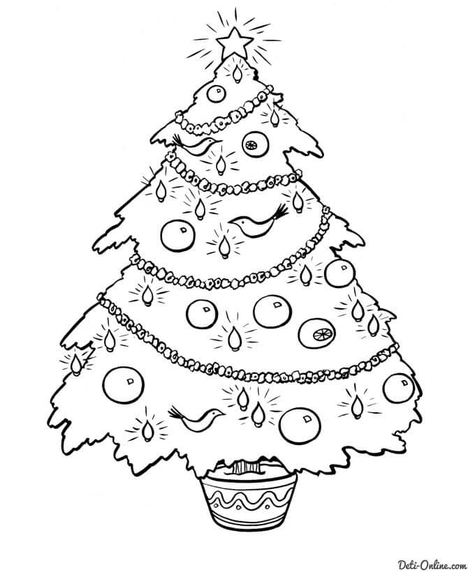 Картинки и рисунки новогодней елки для детей - подборка 16